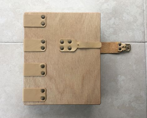 Custom Made An Elegant Journal Or Diary, In Warm Wood And Leather, Available With Or Without Buckle Closure