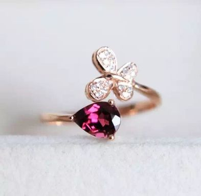 Custom Made 0.93 Carat Rhodolite Garnet Ring In 14k Rose Gold