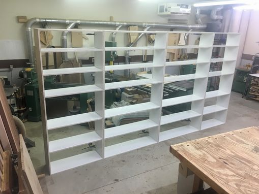 Custom Made 8' X 14' Office Shelving With Led Lighting