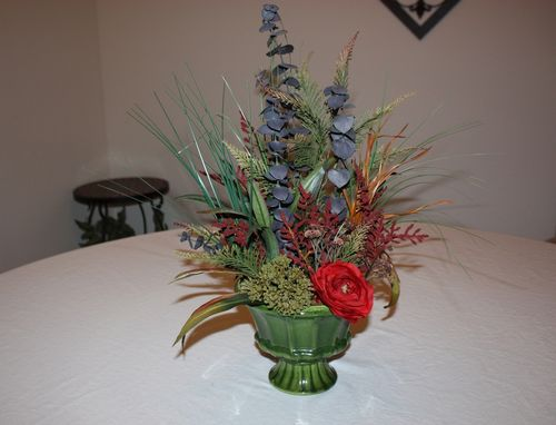Custom Made Spring Decor Silk Flower Arrangement, Home Decorating, Dining Table Centerpiece, Living Room Decor