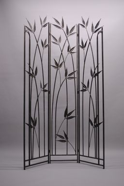 Custom Made Hand-Forged Bamboo Screen
