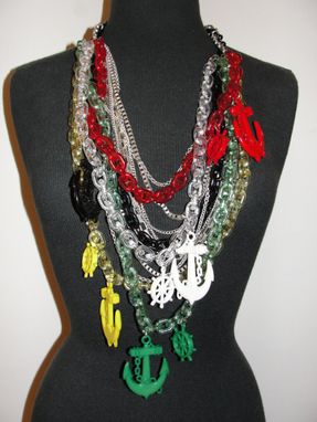 Custom Made Nautio Colorful Anchor Chain Necklace
