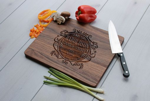 Custom Made Personalized Cutting Board, Engraved Cutting Board, Custom Wedding Gift – Cb-Wal-Haroldson