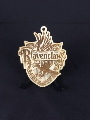Laser cut birch wood mandrake Harry Potter Christmas ornament