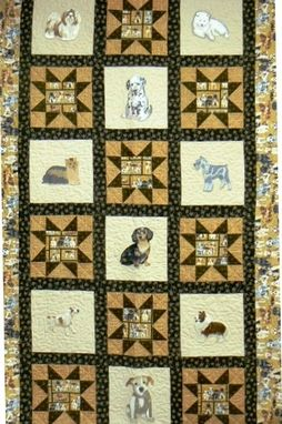 Custom Made Custom Made Doggie In The Window Quilt