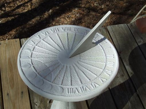 Custom Made Garden Sculpture - Earth Rise Sundial