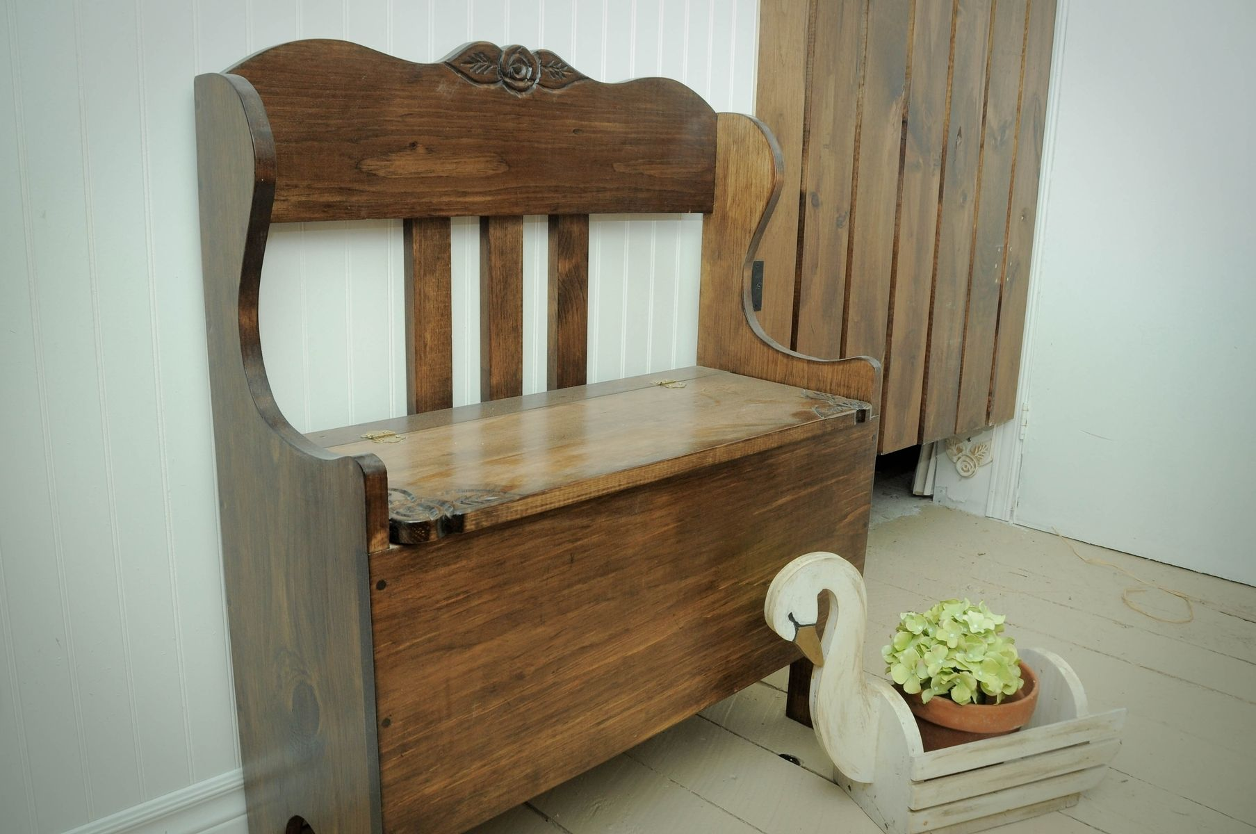 Stupendous Custom Entry Bench Storage Bench By Eugenie Woodcraft Ncnpc Chair Design For Home Ncnpcorg