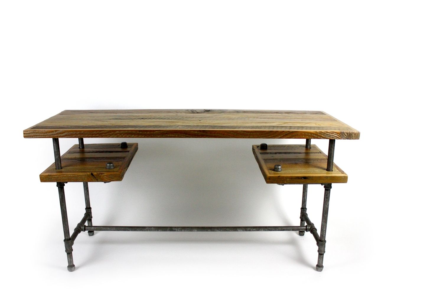 Custom Made Galvy Desk Reclaimed Wood Table