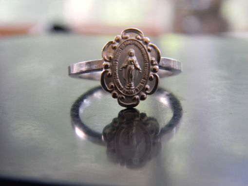 Custom Made Ring Made From Religious Medal