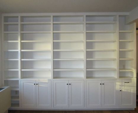 Custom Made Built-In Painted Bookcase
