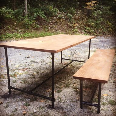 "Custom Made The ""Hudson"" Table And Bench"