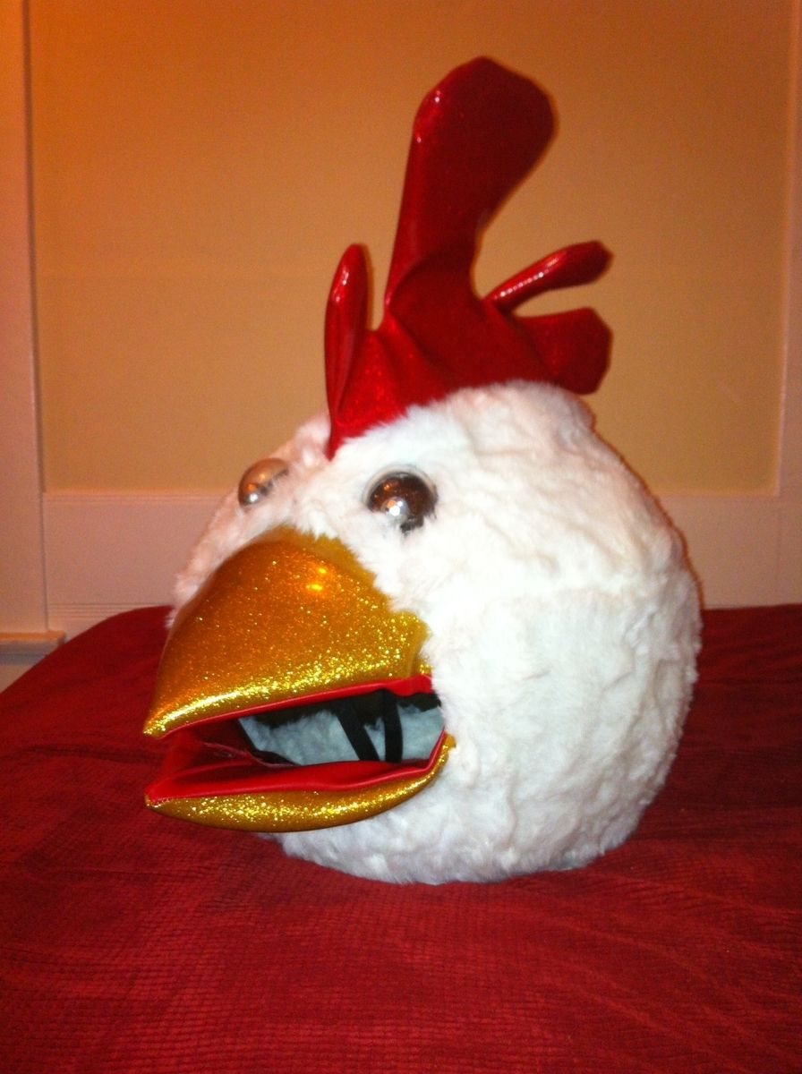 Hand Made Chicken Bobble Head Mask Helmet By Lucky13