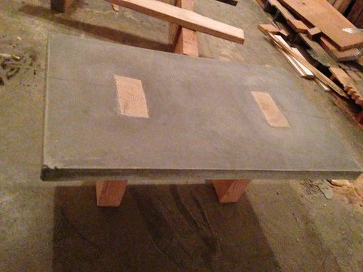 Custom Made Concrete And Wood Beam