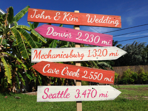 Custom Made Outdoor Wedding Decoration, Rustic Ceremony Arrows Sign, Gift For Couple