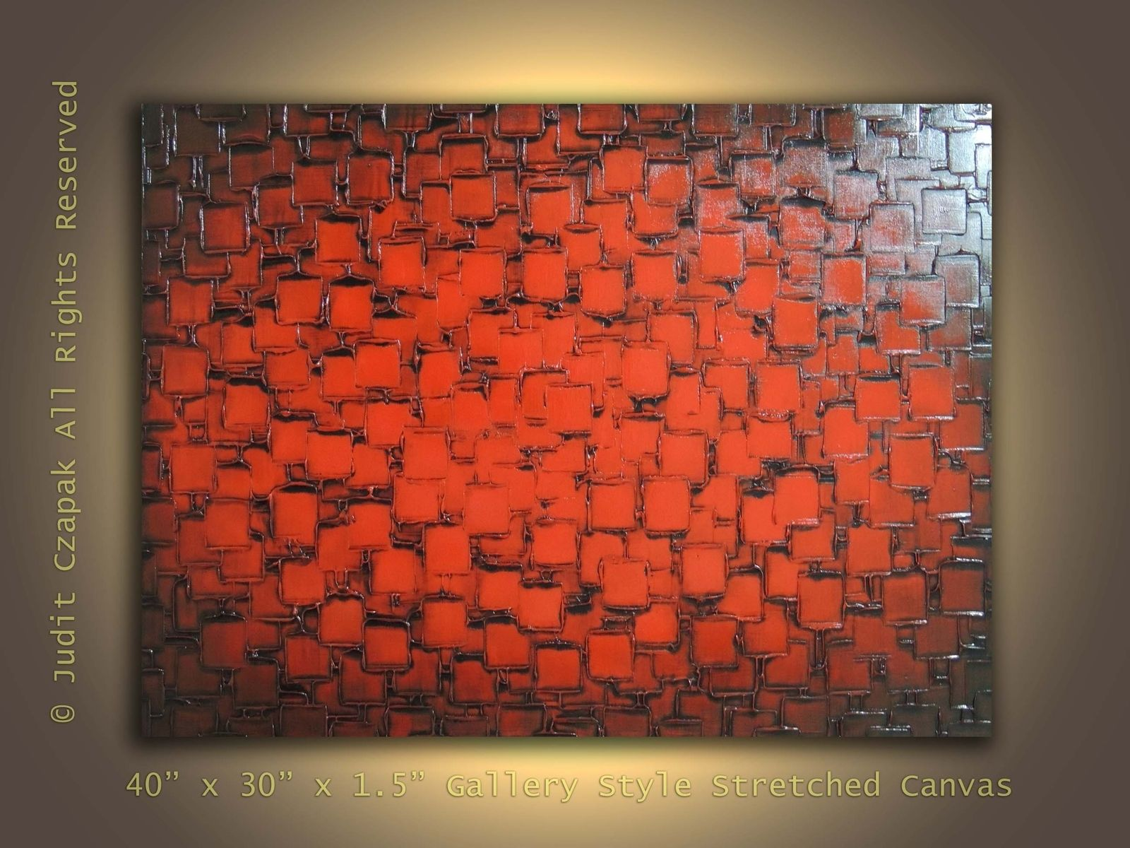 Hand made original modern textured painting on canvas by for Texture painting ideas canvas