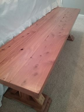 Custom Made End Of Bed Bench