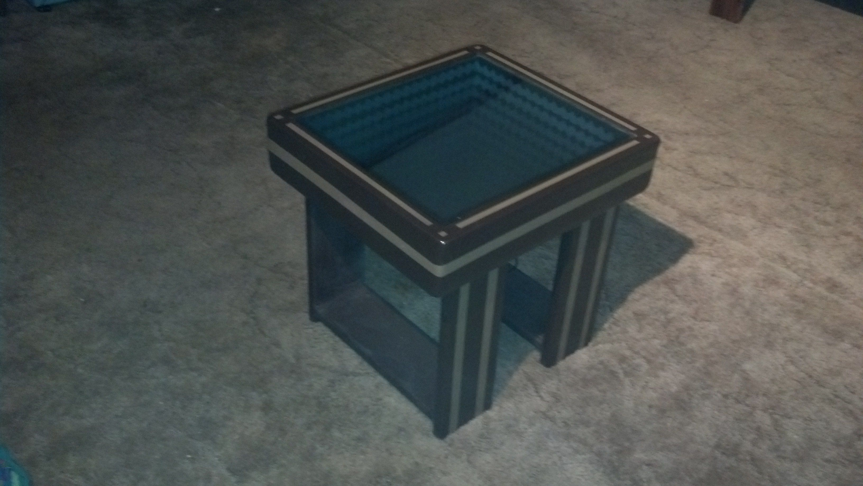 Buy A Custom Made Infinity Mirror Coffee Table With Led Lighting Effects Espresso And Nutmeg