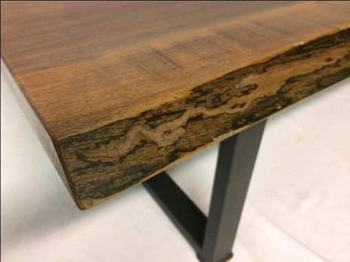 Custom Made Live Edge Black Walnut Bench