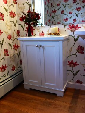 Custom Made Painted Bathroom Cabinet