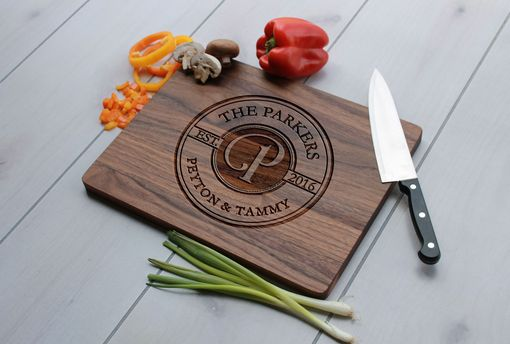 Custom Made Personalized Cutting Board, Engraved Cutting Board, Custom Wedding Gift – Cb-Woa-Parkers
