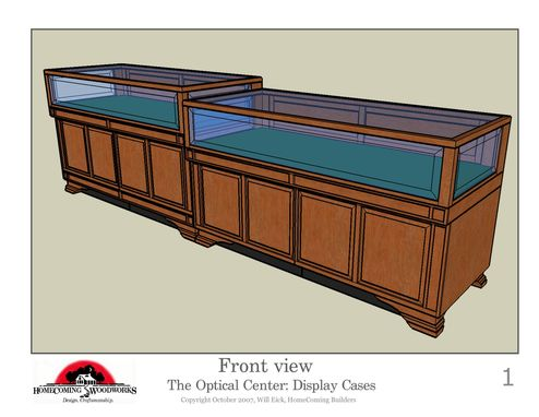 Custom Made Optical Center Display Cases And Desk