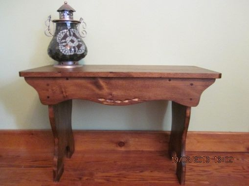 Custom Made Small Bench, Coffee Table