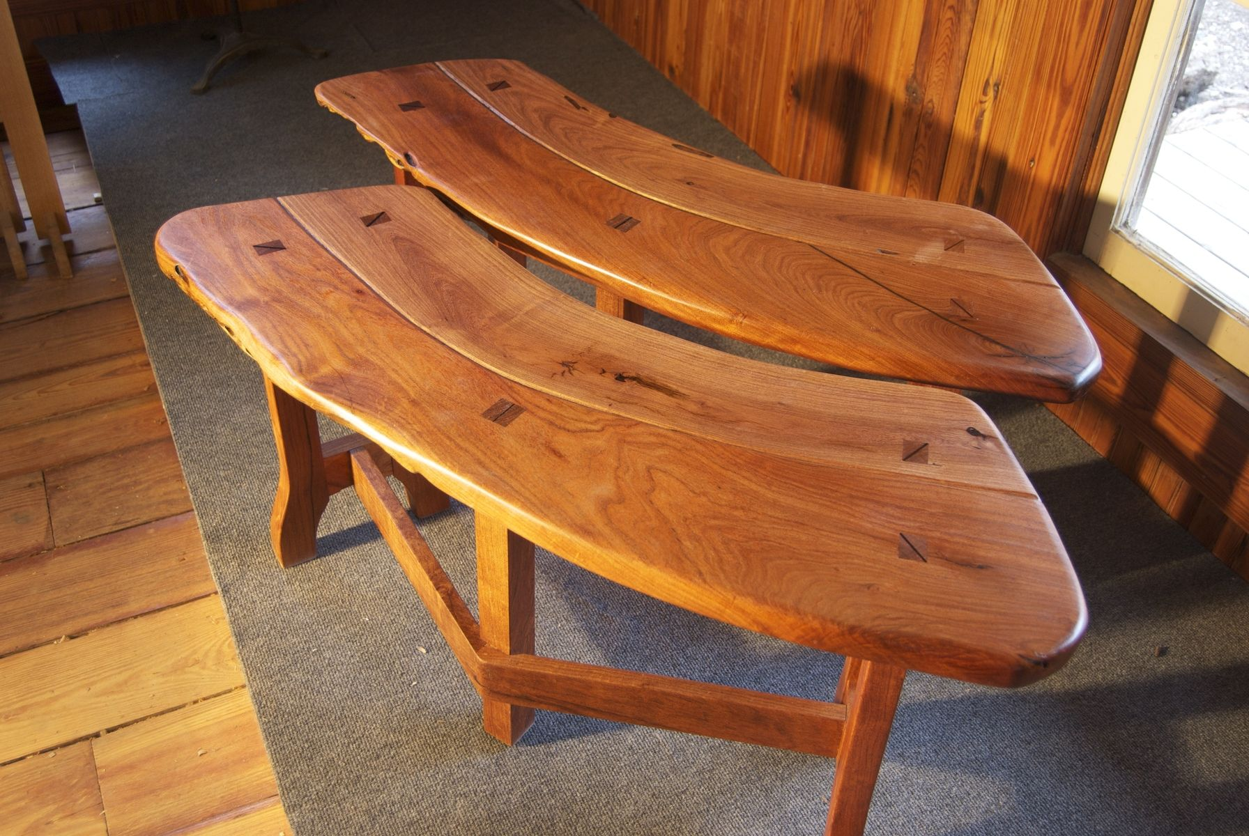 Custom Made Rustic Benches