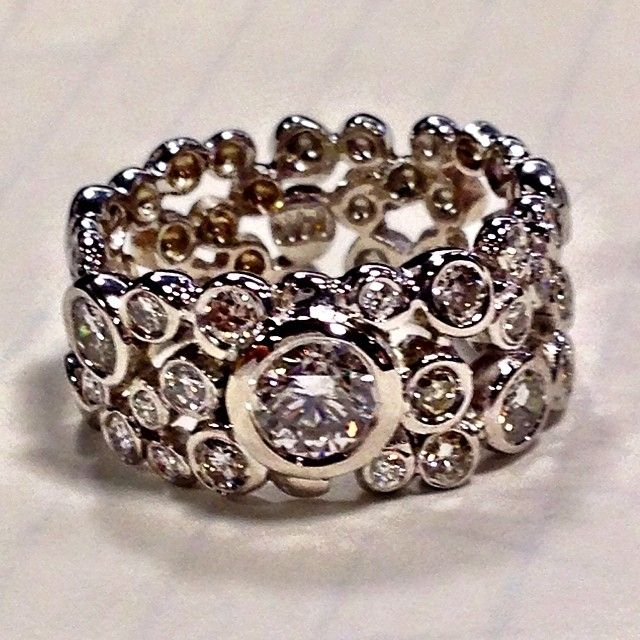 Custommade Diamond: Hand Crafted Custommade Diamond Bubble Ring By The Bridal