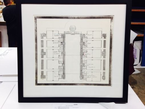 Custom Made Ketubah, Poster & Found Object / Textile Framing