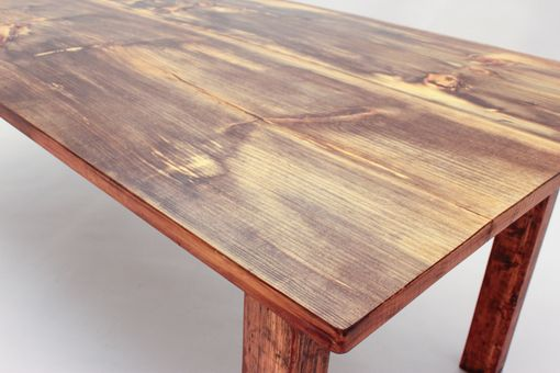 Custom Made Two Board Pine Top Farmhouse Dining Table Dt-60