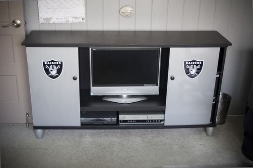 Custom Made Raiders Desk & Entertainment Center
