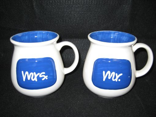 Custom Made Mr. And Mrs. Mug Set
