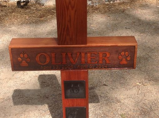 Custom Made Personalized Cedar Timber Laser Engraved Memorial Cross