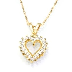 Buy a handmade 1 ounce coin frameholder in 14k yellow gold 2016 heart shape diamond pendant in 14k yellow gold love pendant open heart pendant by mozeypictures Gallery