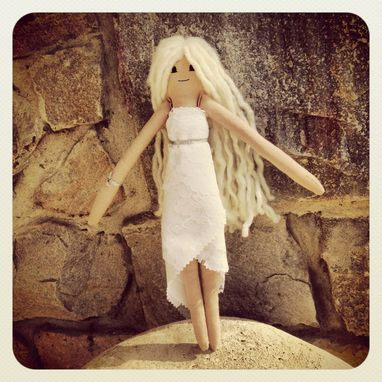 Custom Made Wedding Rag Doll In A Vintage Lace Dress