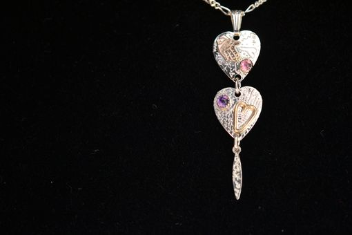 Custom Made Sterling Silver + 14k Gold Fill Heart Necklace