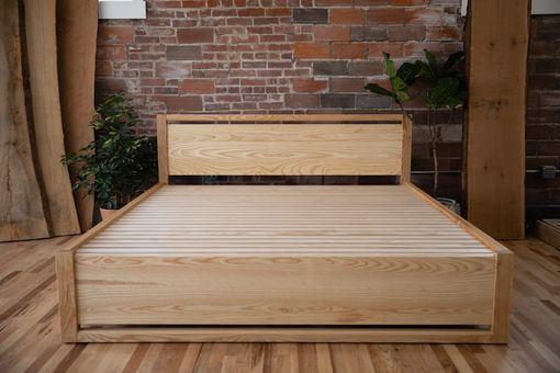 "Custom Made ""Mojave"" Ash King Bed, With Storage"