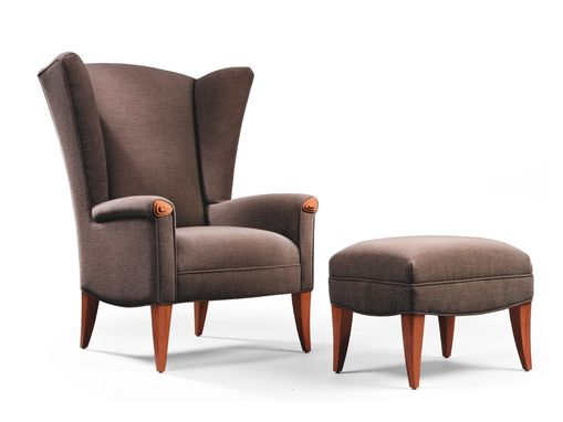 Custom Made Amelia Wing Chair And Ottoman