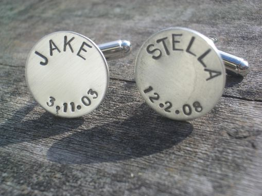 Custom Made Cufflinks With Solid Sterling Disks