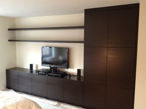 Custom Made Wall Unit Installation