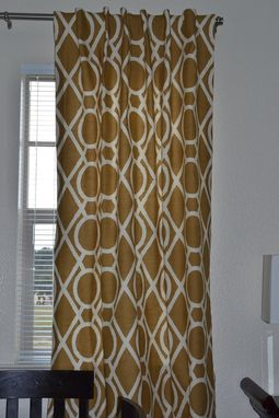 Custom Made Custom Curtains, Robert Allen Collection In Amber