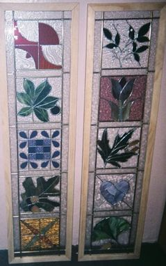 Custom Made Glass Quilt Sidelights