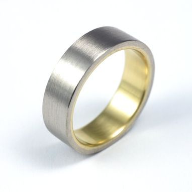 Custom Made White & Yellow - White And Yellow Gold Band