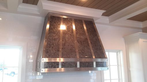 Custom Made The Herlitz - Custom Zinc And Stainless Steel Kitchen Range Hood