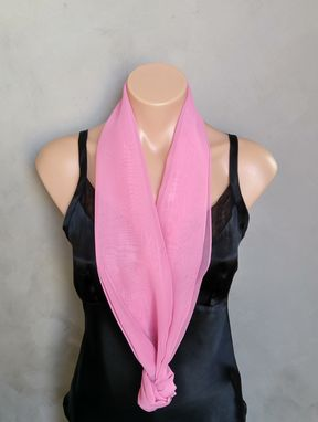 Custom Made Tea Rose Chiffon Scarf
