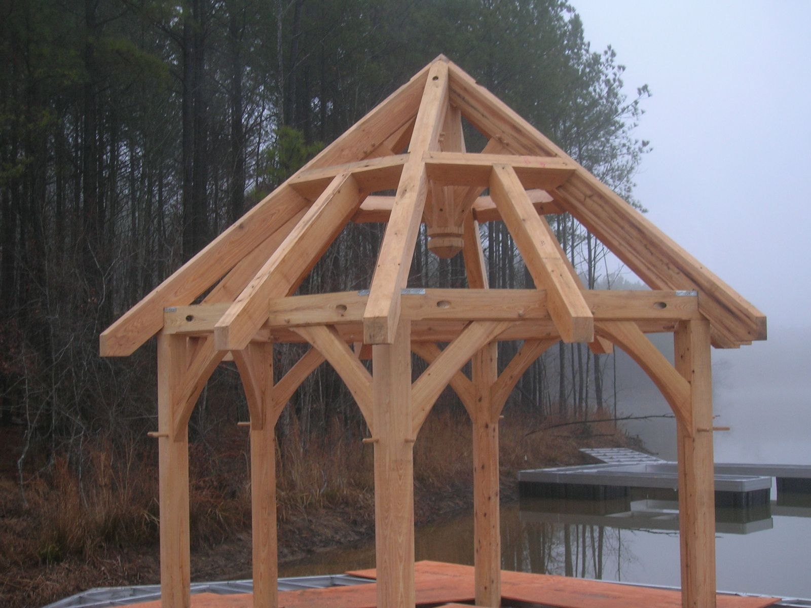 Hand Made Floating Gazebo By Moresun Custom Woodworking