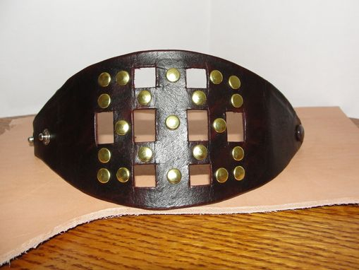 Custom Made 'Leather Bracelet With Brass Rivets'