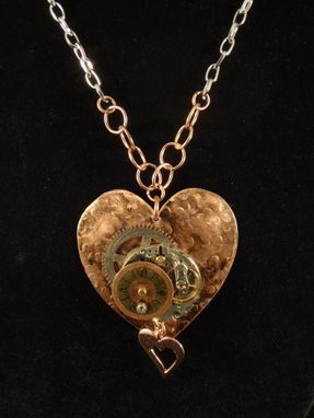 Custom Made Steampunk Heart Necklace