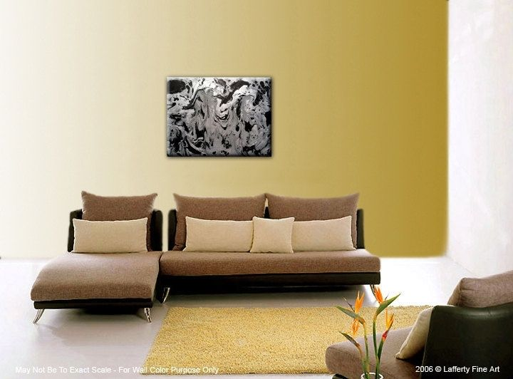 Buy A Custom Made Original Abstract Painting Silver