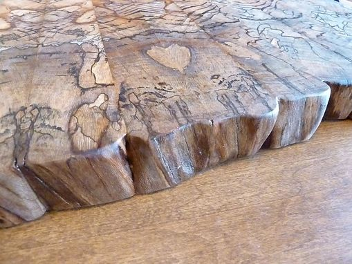 Custom Made Spalted Sycamore End Grain Chopping Board, Butcher Block, Island